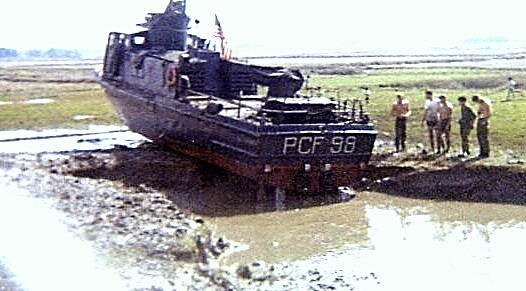 PCF 98 aground