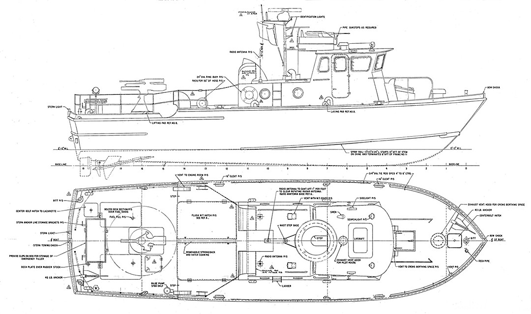 Mark III Swift Boat Line Drawing