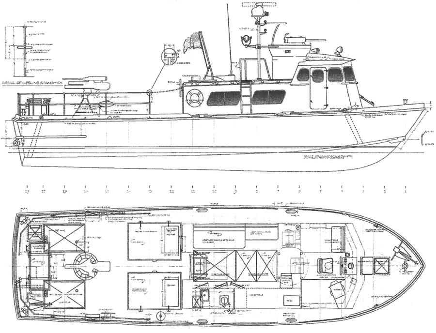 Line Drawing Boat : Boat specifications