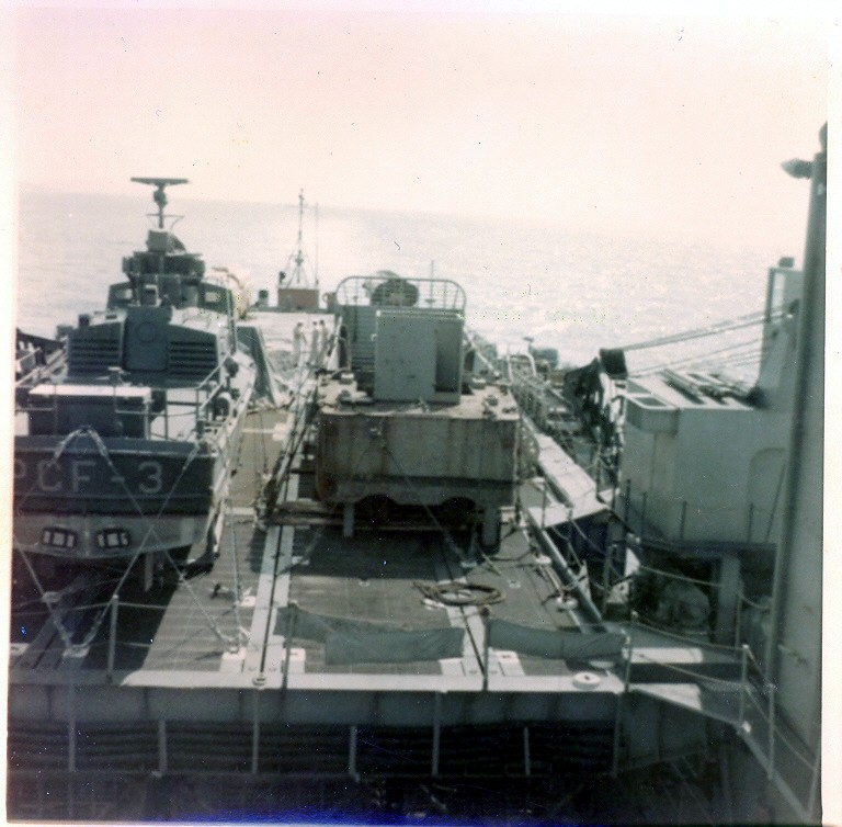 PCF-3 on board USS Gunston Hall (LSD-5)