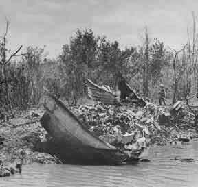 The wreckage of PCF 43 - 12 April 1969